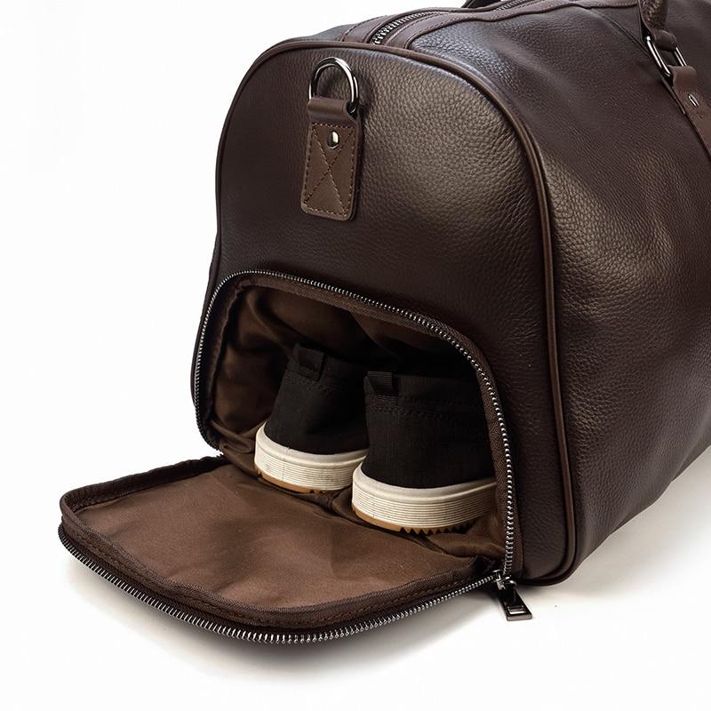 Big Capacity Genuine Leather Weekend Best Duffel Bag for Traveling Best Sellers Best Duffle Bags Best Leather Bags Men's Bag Trendy Backpacks cb5feb1b7314637725a2e7: black1(55cm) black2(45cm) brown1(55cm) brown2(45cm)