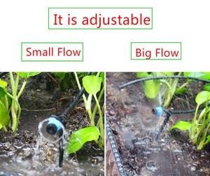 Image 5 - 高速配送 300 個調節可能な渦スプレー点滴灌漑システムバブルドリッパーエミッタ水まきマイクロドリップ継手