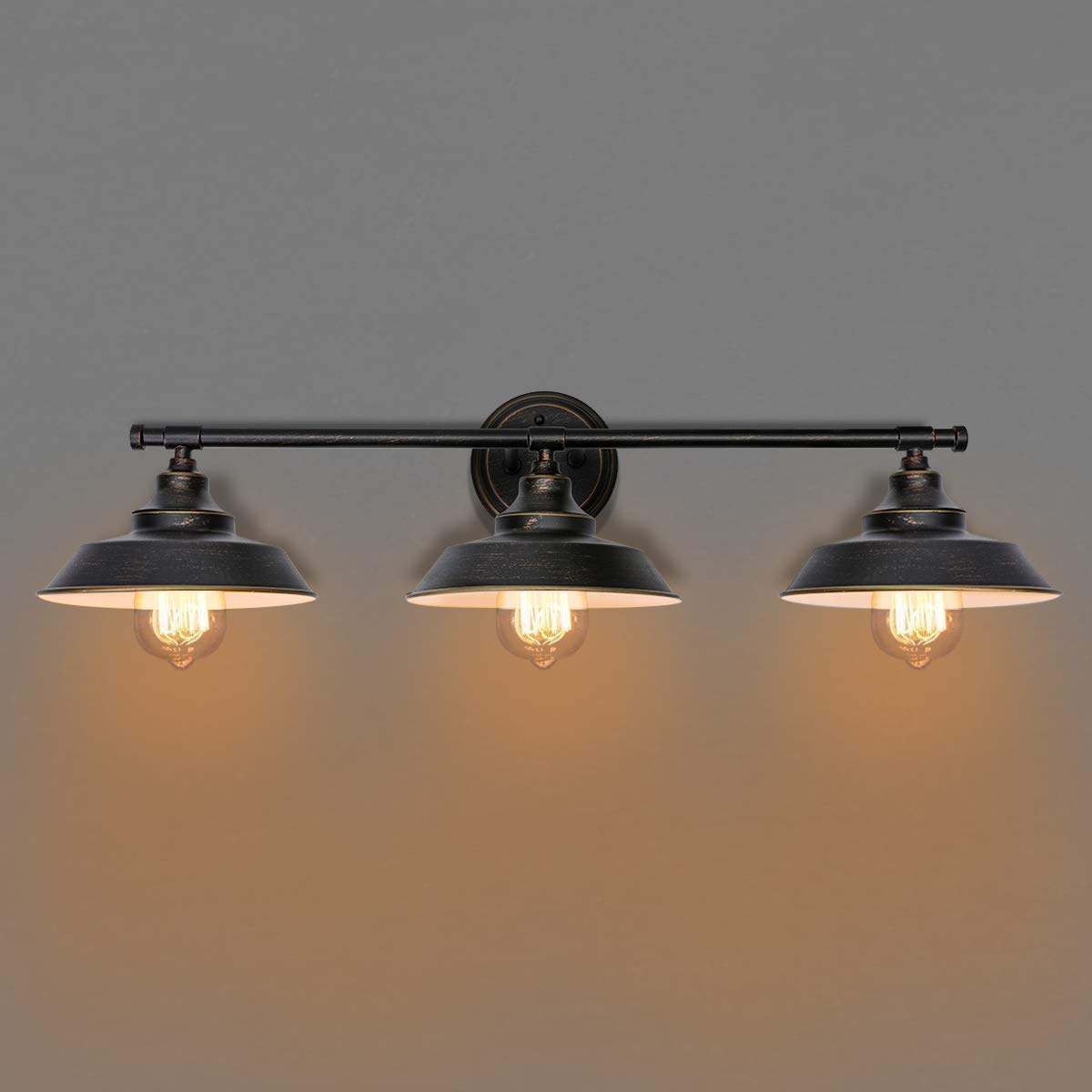 Bathroom Vanity Light 3 Light Wall Sconce Fixture Industrial Indoor Wall Lamp Vintage Bedroom Bedside Antique Wall Mount Light