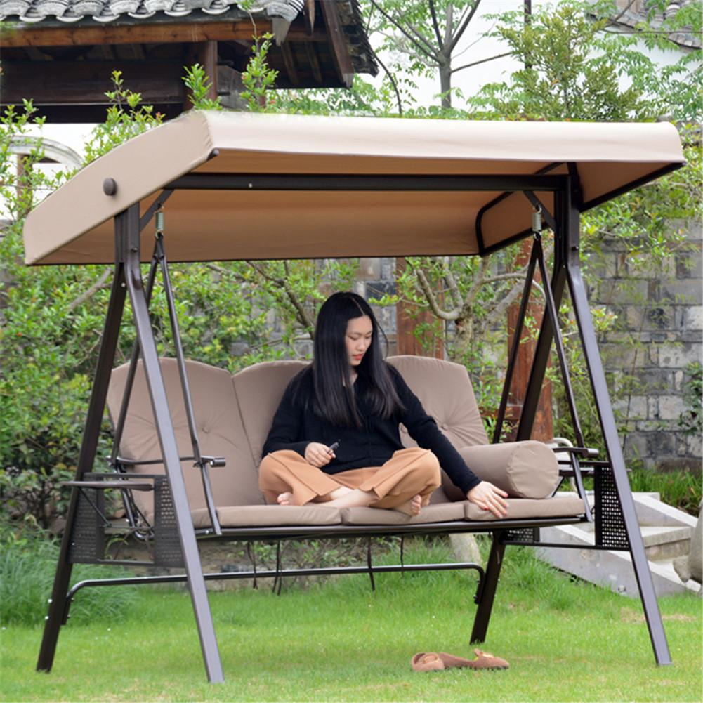 waterproof patio swing canopy cover replacement 3 seater garden swing canopy uv sun shade case outdoor chairs hammock covers bag