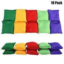 10 unidades/pacote sacos de feijão náilon diversão esportes ao ar livre família jogos saco feijão toss carnaval brinquedos melhor presente