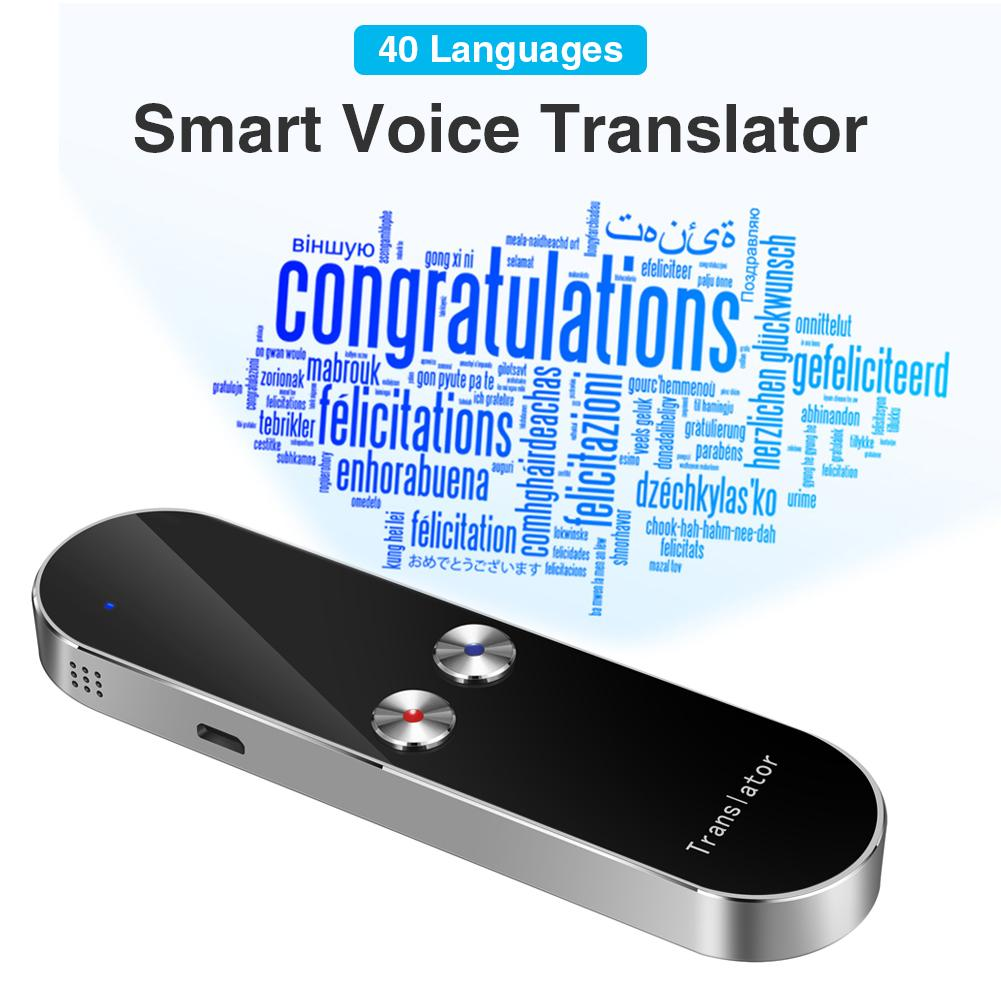 K8 Intelligent Learning Machine Translator 40 Multi-language Two-way Real Time Translation For Travelling Business Meeting image
