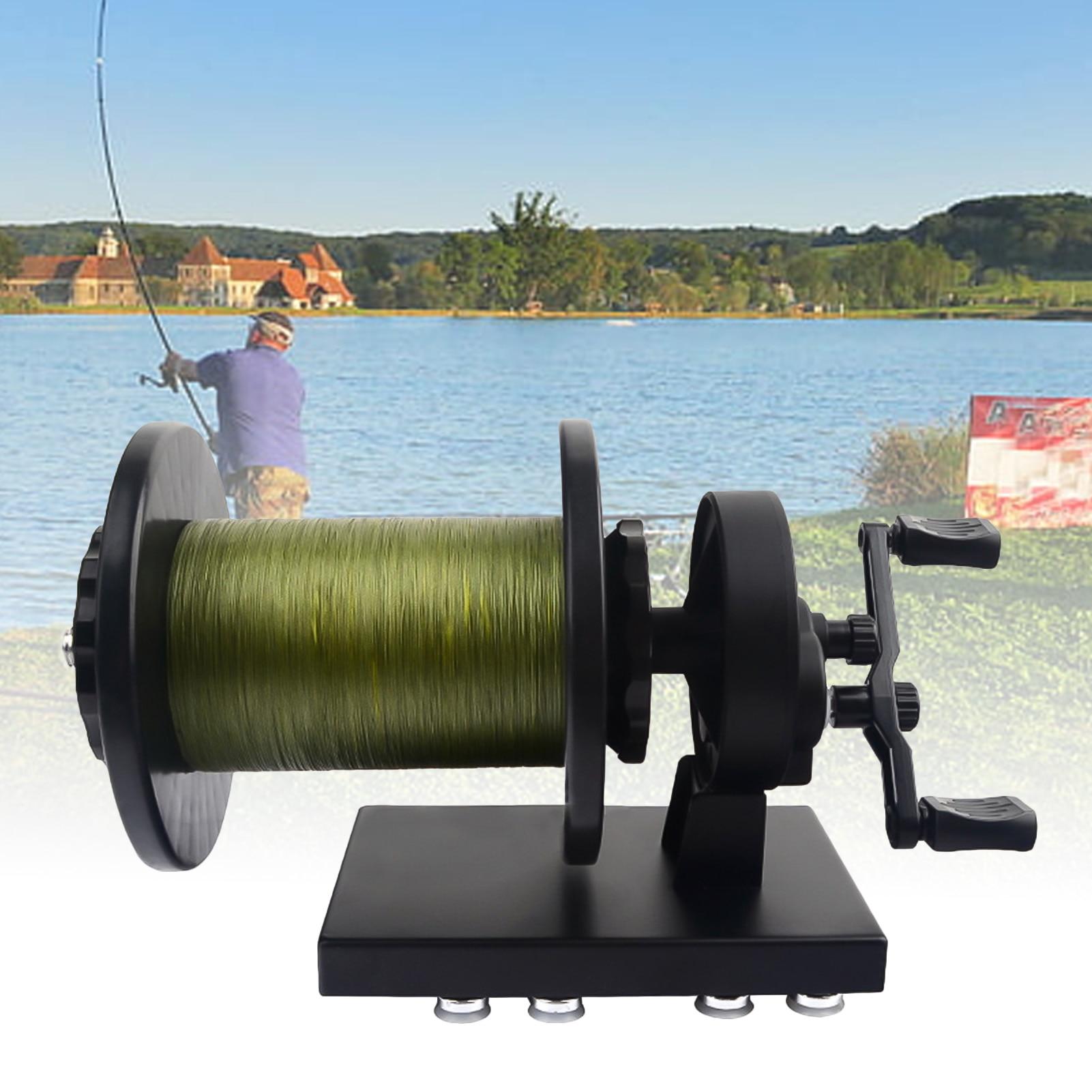 Linha de pesca portátil sspooler fiação carretel