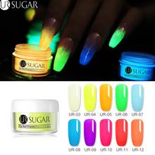 UR SUGAR 5ml Luminous Dip proszek do paznokci 3 w 1 akrylowy zanurzenie proszek do paznokci rzeźba rozszerzenie Gradient rosną w ciemnym pigmencie wystrój tanie tanio Approx 5ml 1 box Dipping Nail Powder Paznokci brokat AUB47102 Luminous Powder Carving Extension Luminous Effect Natural Dry Without Lamp Cure