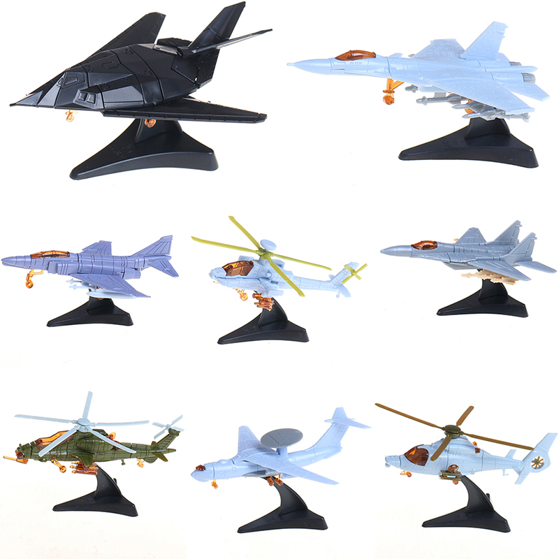 1pcs 1:165 4D Plastic Assembled Airplane Military Fighter Militaire Helicopter Collection For Children Sandplay Toy