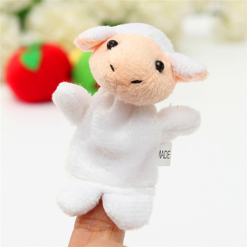 10pcs/lot Hand Puppet Finger Puppets Set Had A Farm Toys Mini Plush Baby Educational Story Cloth Doll Family Toys for Boys Girls