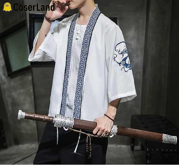 Mo Dao Zu Shi Yaoi Yukata Anime Wei Wuxian Lan Zhan Kimono The Untamed Hanfu Cardigan Holiday Cosplay Costume Beach Casual Shirt
