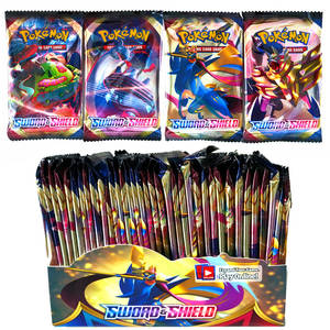 Booster-Box Shield Cards-Game Collectible Pokemones-Cards Evolutions Ancient Trading