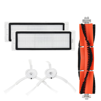 5PCS Mi Robot Vacuum Cleaner Parts Replacement Kit for Mi Robot S50 S51 for Xiaomi Robo2 Vacuum Cleaner Accessory Kit