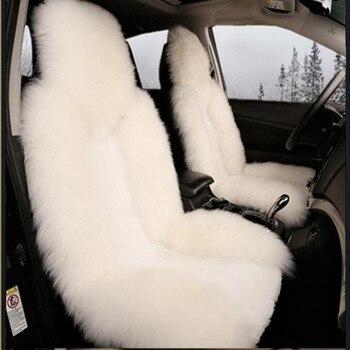 5 seat Keep warm Australian wool long plush fur seat cover For Skoda Octavia Fabia Superb Rapid Yeti Spaceback Joyste Jeti