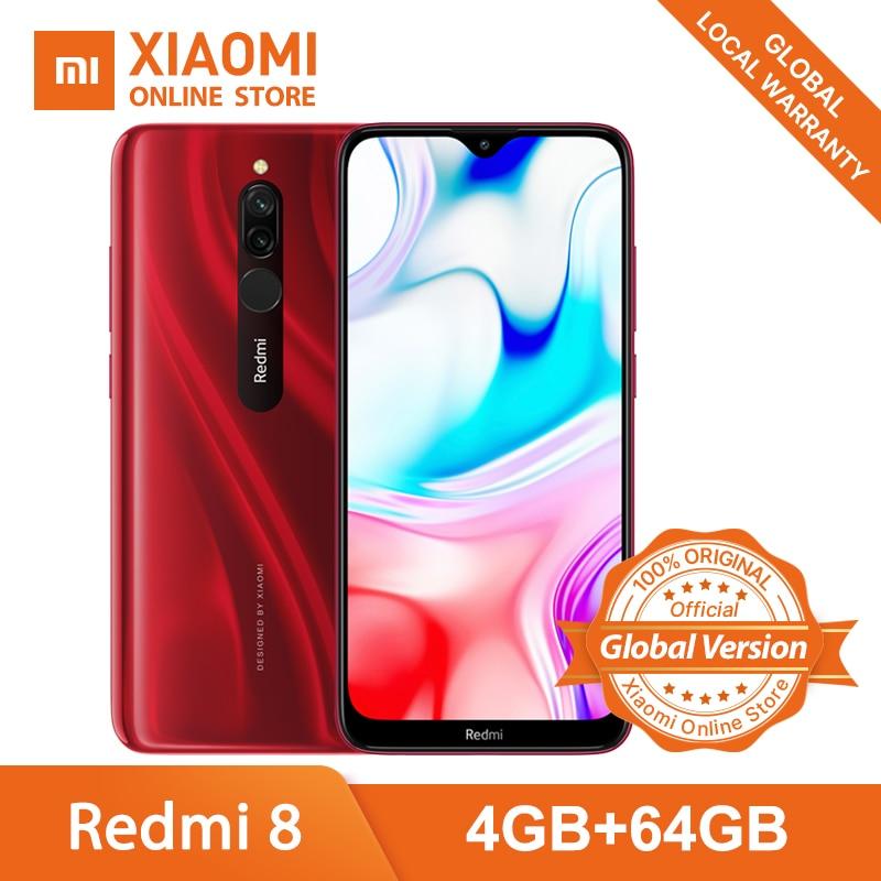"Global Version Xiaomi Redmi 8 4GB 64GB Smartphone Snapdragon 439 Octa Core 5000mAh 6.22"" 12MP+2MP 18W Quick Charge Mobile Phone|Cellphones| |  - title="