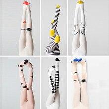YWHUANSEN wiosna dzieci rajstopy kot kreskówkowy rajstopy dla dziewczynki dzianiny bawełniane bawełniane śliczne dzieci Stocking rajstopy dziecięce rajstopy