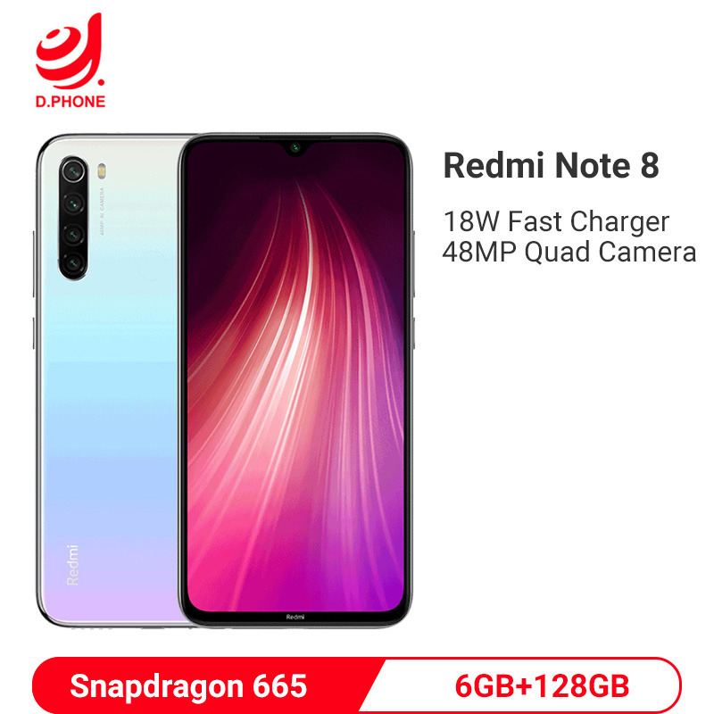 Global ROM Xiaomi Redmi Note 8 6GB 128GB Snapdragon 665 Octa Core Smartphone 48MP Quad Camera Mobile Phone 4000mAh Fast Charging