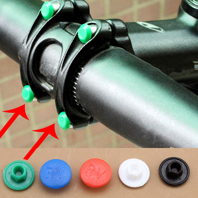 5pcs Bicycle Handle Screw Caps Plastic Mountain Bike Screws Cap Bike M5 Hexagon Screws Cap Riding Accessories