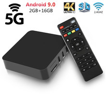 Neue Android 9,0 TV Box Rockchip RK3228A 2GB RAM 16GB ROM Set Top Box 2,4G/5GHz WiFi 5G Google Spielen 4K Media Player Smart TV Box(China)