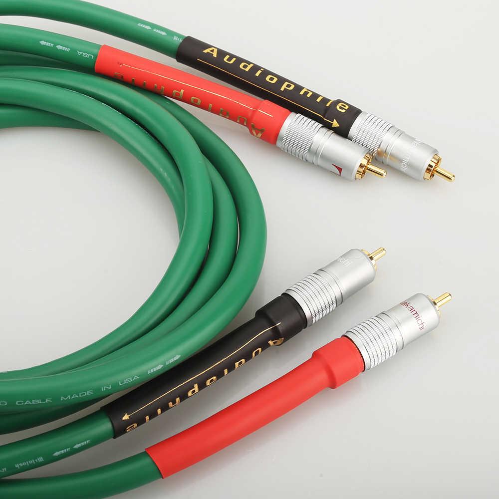 高品質ハイファイオーディオ 2328 純銅の Hifi オーディオケーブル RCA インターコネクトケーブル