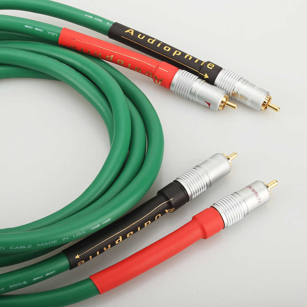 Alta qualidade de áudio de alta fidelidade 2328 cobre puro cabo de áudio de alta fidelidade cabo de interconexão rca