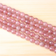 Strawberry Crystal 4/6/8/10 mm Natural Stone Bead Round Bead Spacer Jewelry Bead Loose Beads For Jewelry Making DIY Bracelet Nec