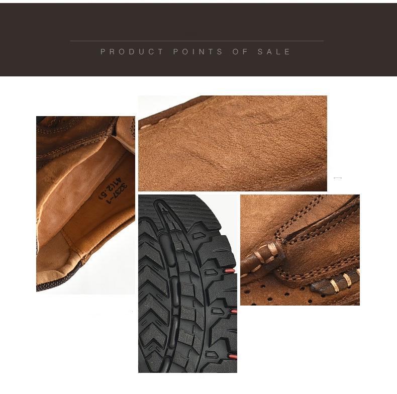 H3001603d2411445c82737c17379e80feu Men Casual Shoes Sneakers 2019 New High Quality Vintage 100% Genuine Leather Shoes Men Cow Leather Flats Leather Shoes Men