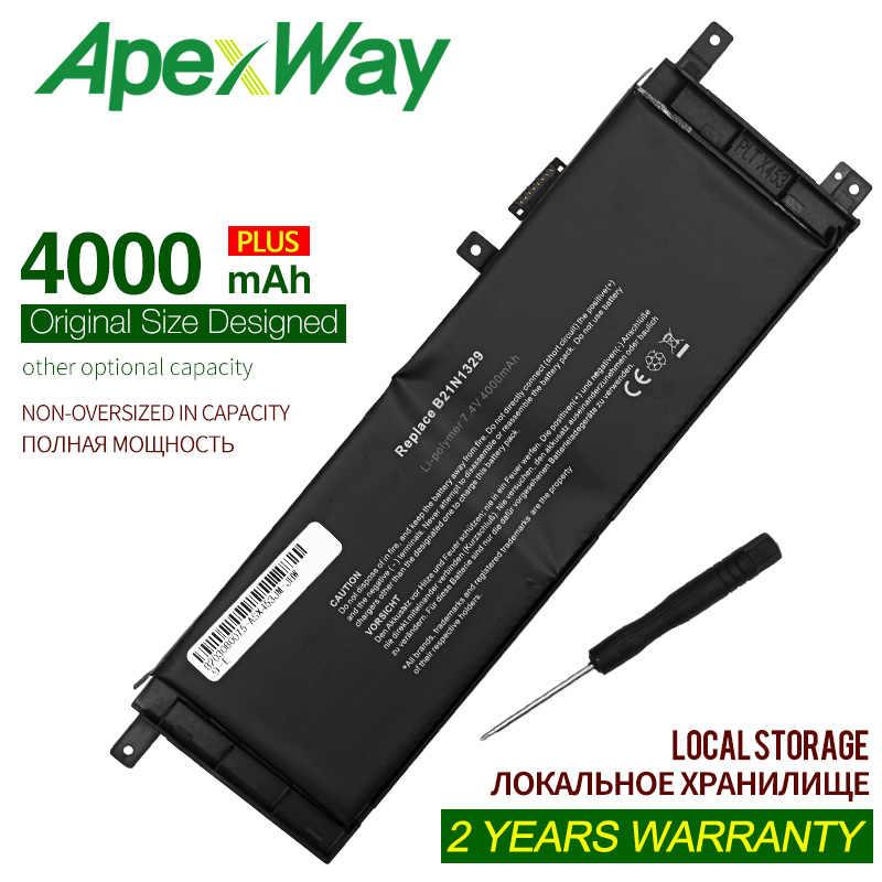 ApexWay 7.4V 4000mAh B21N1329 بطارية Asus D553M F453 F453MA F553M P553 P553MA X453 X453MA X553 X553M X553B X553MA X503M X403M