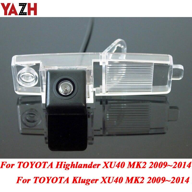 Otomobiller ve Motosikletler'ten Araç Kamerası'de TOYOTA Highlander Kluger için XU40 MK2 2002 ~ 2014 araba dikiz park su geçirmez ters yedekleme arka görüş kamerası HD gece görüş title=