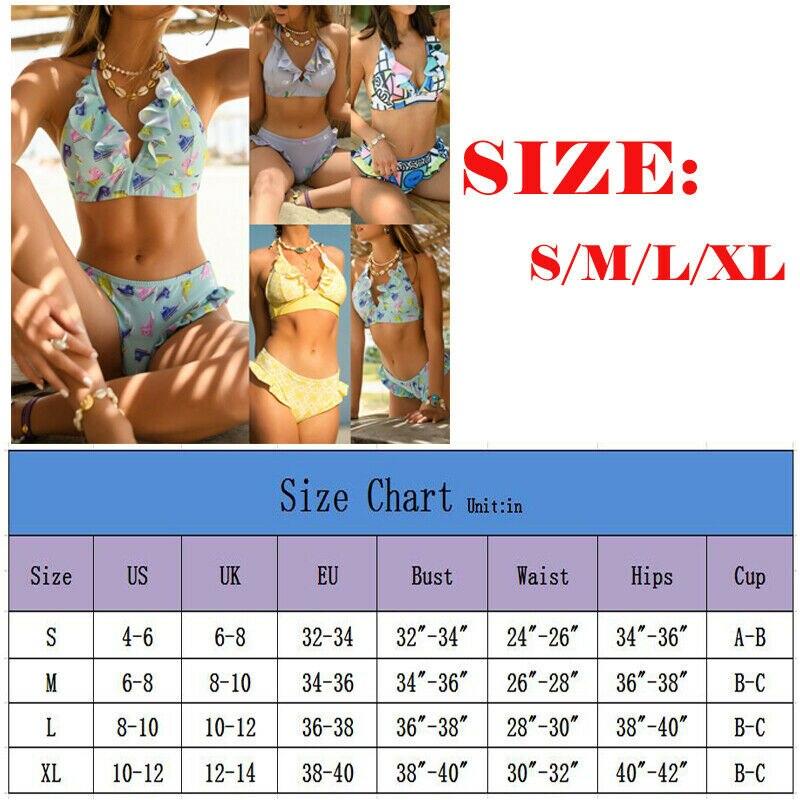 Ladies Womens Bikini Strapless Flower Print Bandeau Medium UK 8-10