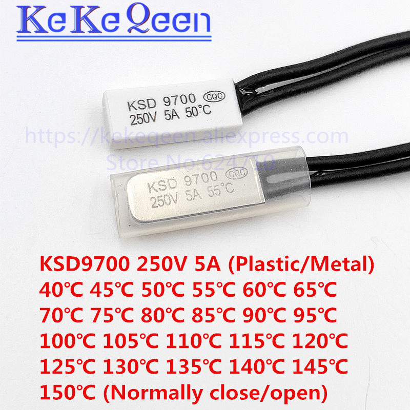 KSD9700 Interruptor De Temperatura Termostato N.o Normal Abierto 110 C 230 F 250 V 5 A 2 un.