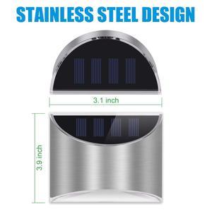 Image 3 - Stainless Steel Outdoor Solar Light  Solar Garden Wall Light Waterproof Solar Powered Wall Lights for Garden Front Door Fence