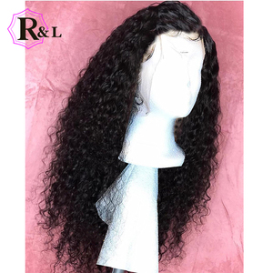 Image 5 - RULINDA Curly Lace Front Human Hair Wigs With Baby Hair 13*4 Brazilian Non Remy Hair Lace Wigs Pre Plucked 130% Density