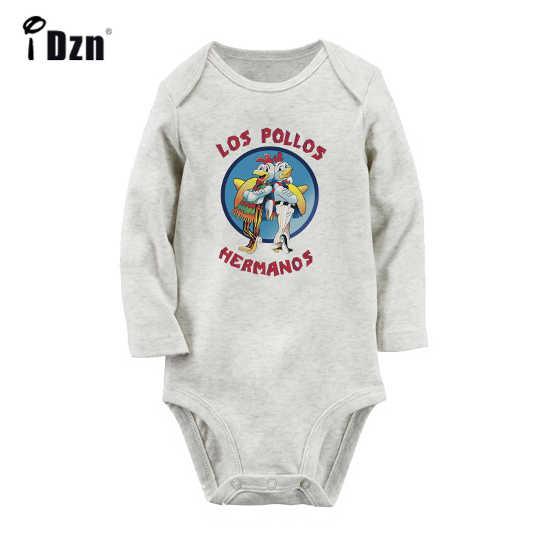 Funny LOS POLLOS HERMANOS Breaking Bad The Chicken Brothers Newborn Baby Bodysuit Toddler Long Sleeve Onsies Jumpsuit Clothes