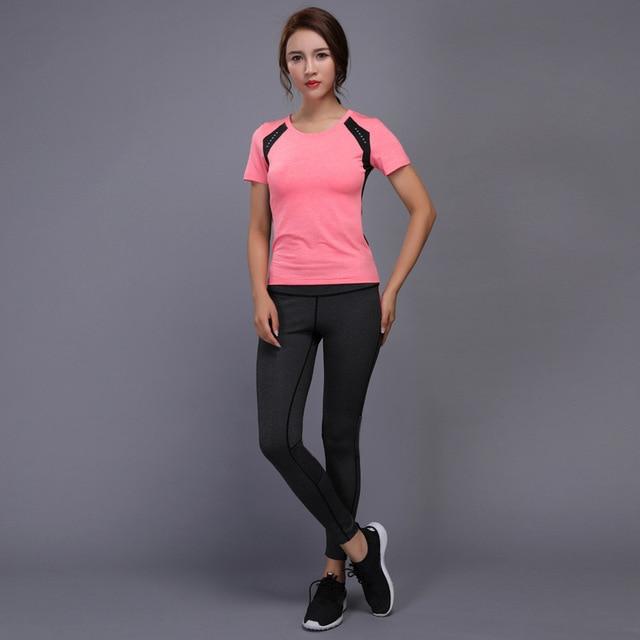 New Hot Women s Sportswear Yoga Set Fitness Gym Clothes Running Tennis Shirt Pants Yoga Leggings Jogging Workout Sport Suit