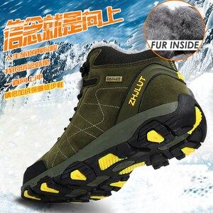 Image 1 - סתיו חורף Mens טיולים מגפי נשים של נעלי ספורט נעלי טיפוס הרים טקטי ציד הנעלה חדש קלאסי חיצוני ספורט גבר