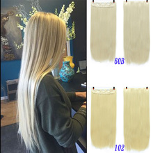 XUANGUANG 5 clips Long Straight Women Clip in Hair Extensions Natural Silky stra