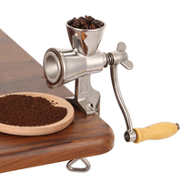 Food Handheld Coffee Grain Grinder Home Kitchen Mill Cereal Manual Soybeans Stainless Steel Flour Herb Rotating Wheat