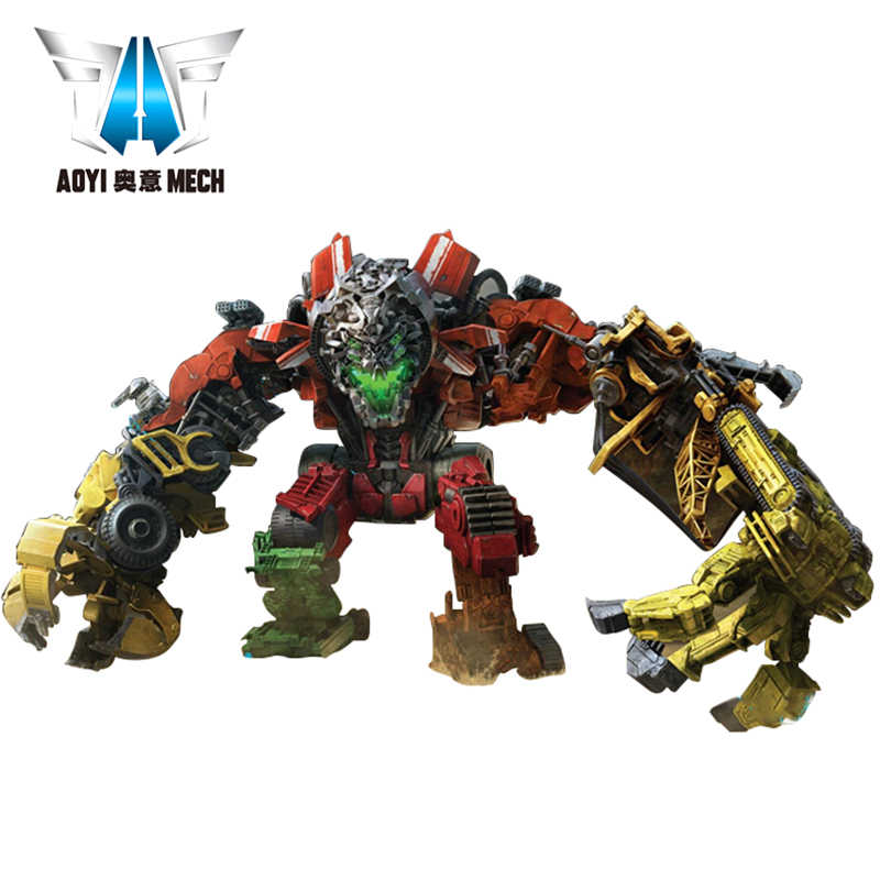 AOYI Devastator Transformation Action Figure Toy Devastator Overload Scrapmetal Rampage Hightower Skipjump Movie Model Car Robot