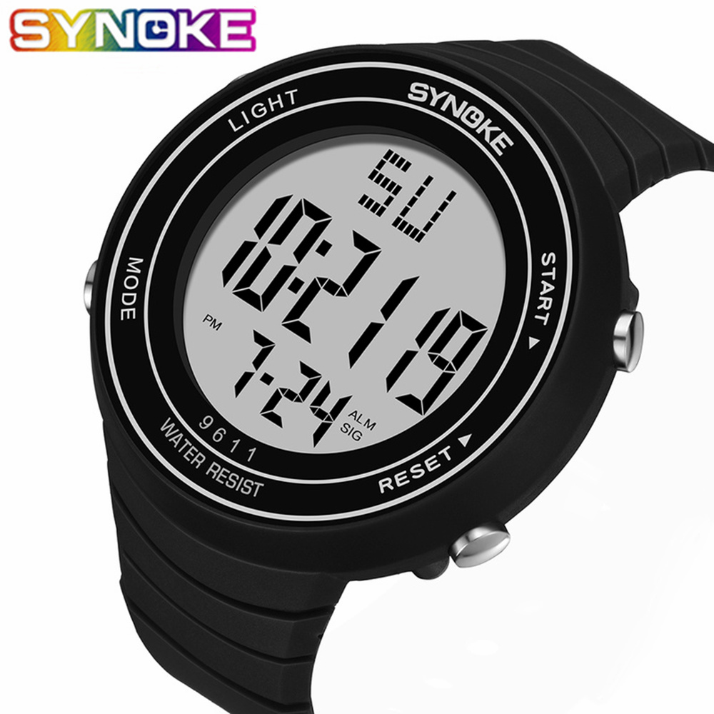 SYNOKE Mens Military Watch For Male Sport Watch Luxury Top Brand Analog Quartz Led Digital Outdoor Waterproof Wrist Watches