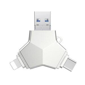 USB3-0 мини флеш-накопитель 4 в 1 USB3.0 & Type C & Micro Usb флеш-накопитель OTG флеш-накопитель 32 Гб 64 Гб 128 ГБ высокоскоростные флешки