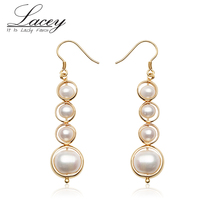 Natural Freshwater Pearl Earrings For Women ,925 Sterling Silver Multi Pearl Earrings Jewelry Earrings Drop Shippings недорого