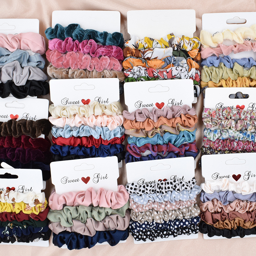 6Pcs/Lot Fashion Simple Basic Elastic Hair Bands Ponytail Holder Leopard Scrunchies Headband For Girl Women Hair Accessorie set(China)