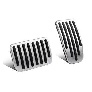 Image 3 - Aluminium legierung Fuß Pedal Für Tesla Modell 3 Accelerator Gas Kraftstoff Bremspedal Rest Pedal Pads Matten Abdeckung Zubehör Auto styling