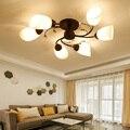 AUGIENB 6/8 головок железная Люстра светодиодный потолочный светильник подвесной светильник ing для спальни гостиной E27 220 В (не включает лампу)