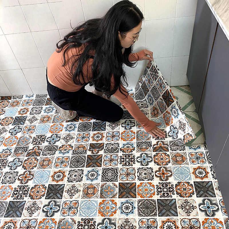 epaissir salle de bain cuisine antiderapant carrelage autocollant auto adhesif papier peint etanche chambre salon vinyle sol autocollants