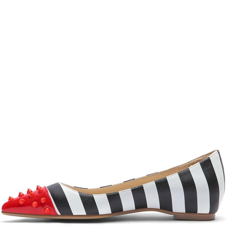 YECHNE Sound Nail Strip Women Platform Shoes Be Teen Flats Fashion Lent Herf Deep Platform Ballet Shoes Plus Size
