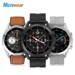 Новинка 2021, Смарт-часы Microwear L19 с Bluetooth, звонки, водонепроницаемые, ЭКГ, артериальное давление, фитнес-трекер для измерения сердечного ритма, С...