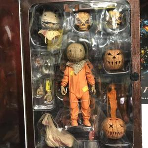 Image 3 - 18cm NECA Trick R Treat Sam Clothed With Bag Lollipop Halloween 2007 Action Figure Classic Film Movie Toys Christmas Doll Gift
