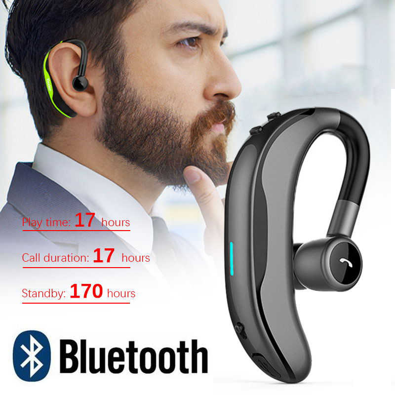 Wireless Bluetooth Earphones Stereo Headset 170mAh Single Handsfree with Microphone Business Bluetooth Headphones For Driving