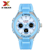 X-GEAR Fashion Sport Watch Women Top brands Luxury 5Bar Waterproof Ladies