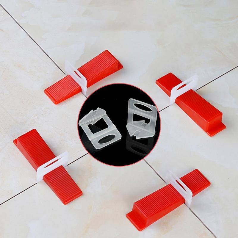100pcs Wedges Clips Plastic Ceramic Tile Leveling System Tiling Flooring Tools Maintaining The Balance Of Ceramic