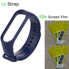Mi Band 4 Bracelet Strap Protector Pantalla For Xiaomi Silicone Correa NFC Miband Screen Film 11 Pcs