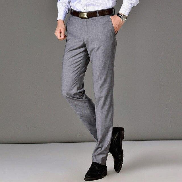 2020 nouveau classique hommes daffaires pantalons mode robe pantalon hommes Slim Fit pantalon bureau décontracté noir formel pantalon hommes costume pantalon